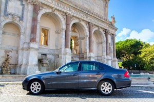 Car rental hire with driver Rome