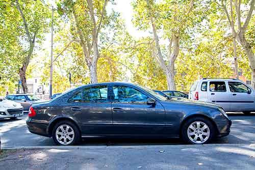 Mercedes E class sedan limousine