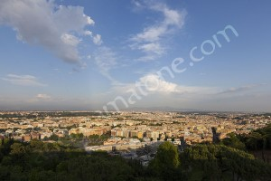 View of the city of Rome from Hotel Cavalieri in Rome