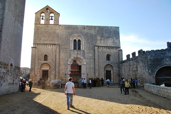Church Santa Maria in Castello. Tarquinia. Italy.