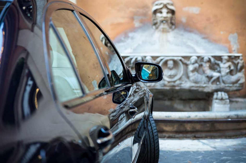 Car Driver Rome service. Chauffeured limousine.