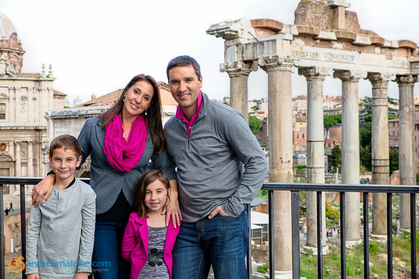 Family Photographer Rome Italy. Photo shoot at the Roman Forum.