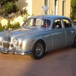 Jaguar mk2 wedding car in Rome Italy for weddings