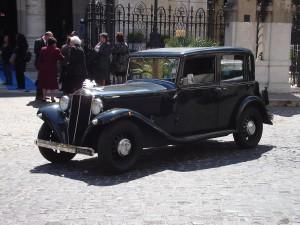 Antique Italian wedding car Lancia Augusta