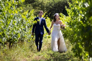 Wedding photography session in a vineyard in Tuscany Italy