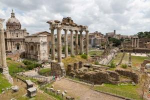A view over the roman Forum from Piazza del Campidoglio