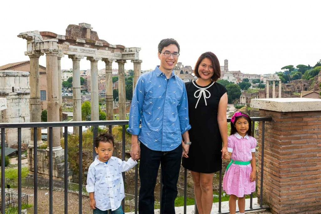 Family picture taken at the Roman Forum