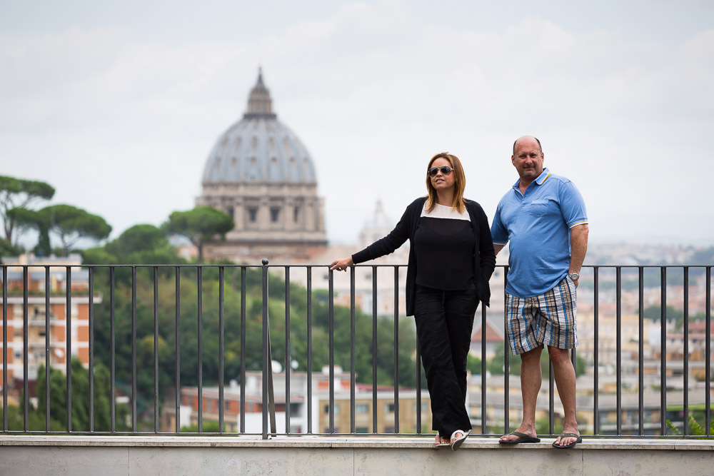 Couple at Saint Peter's square in Rome