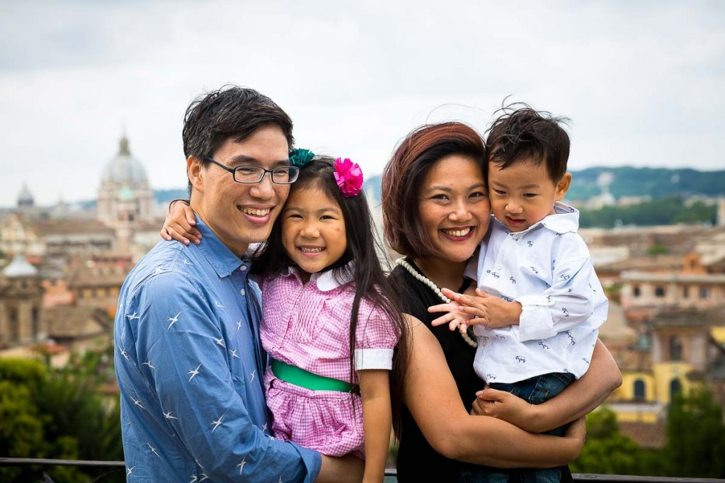 Family photo tour portrait picture