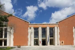 The roman ship museum in lake Nemi.