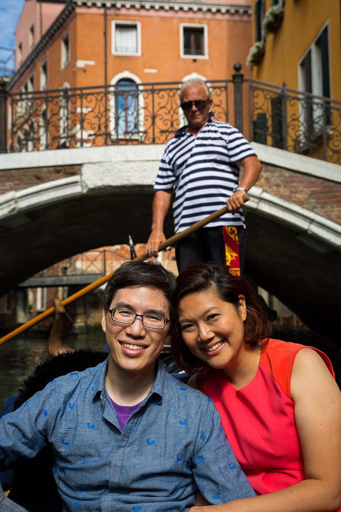 Couple portrait on a gondola