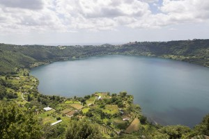 Lago di Nemi. Seen from above.