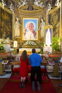 Picture of Pope John Paul II contained in Church st. Spirit in Sassia
