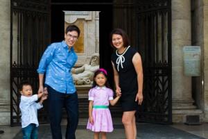 Family at Piazza del Campidoglio.