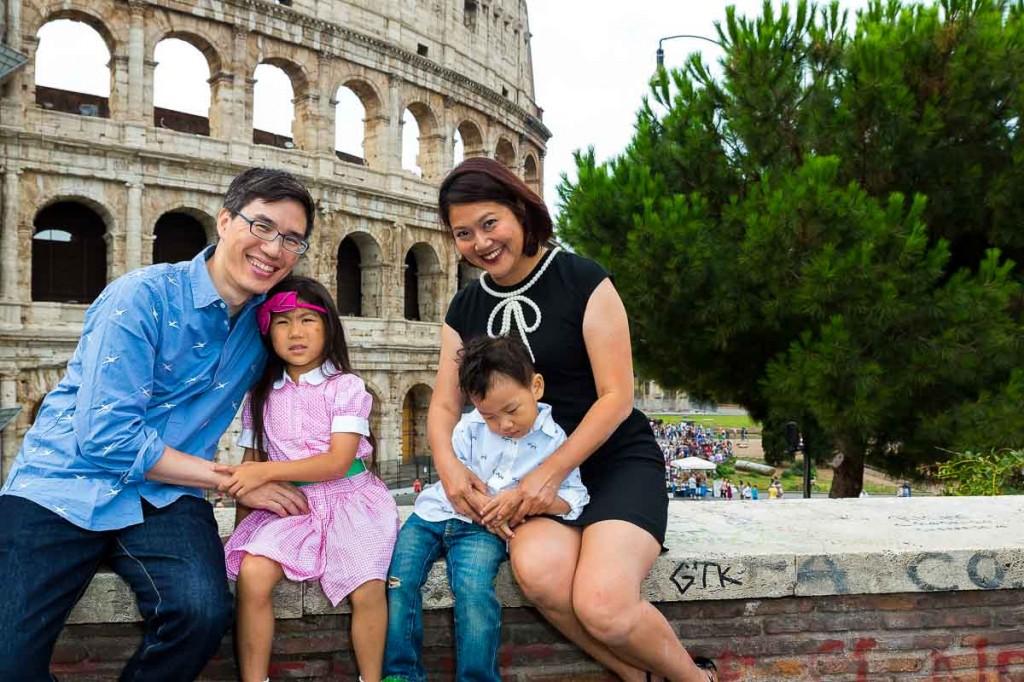 Close up portrait Colosseum