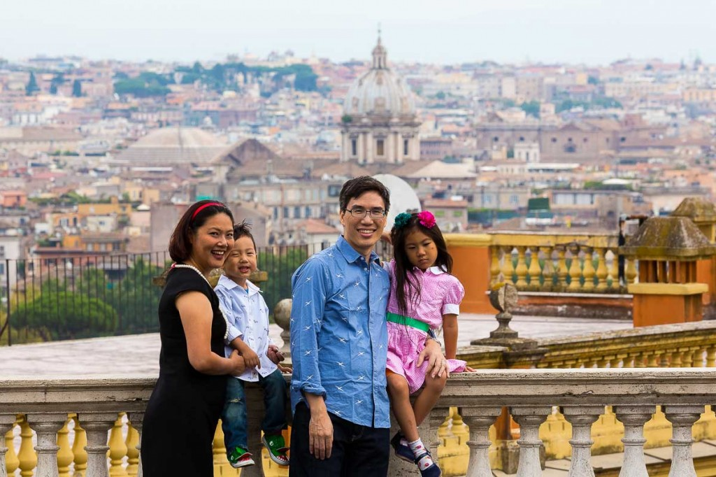 Rooftop view of the city of Rome during a photo tour