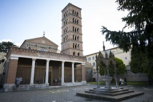 The San Nilo Abbey in the town of Grottaferrata Italy