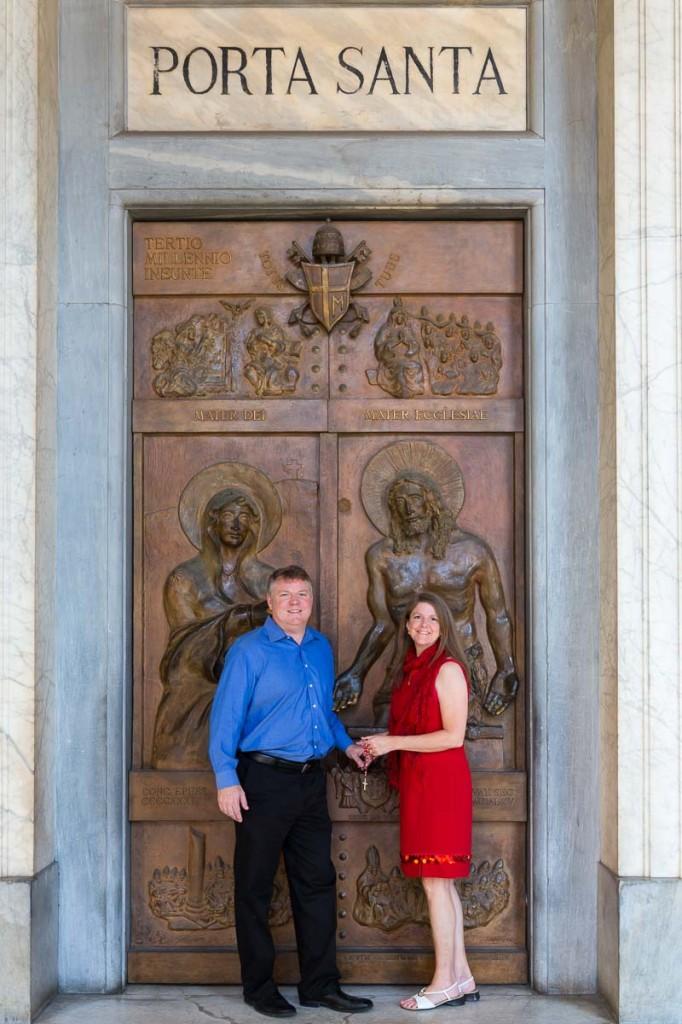 Porta Santa. Holy door. Santa Maria Maggiore.