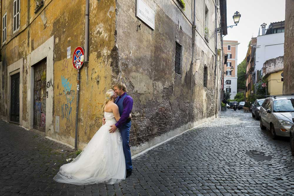 Photo session in the Trastevere quarter