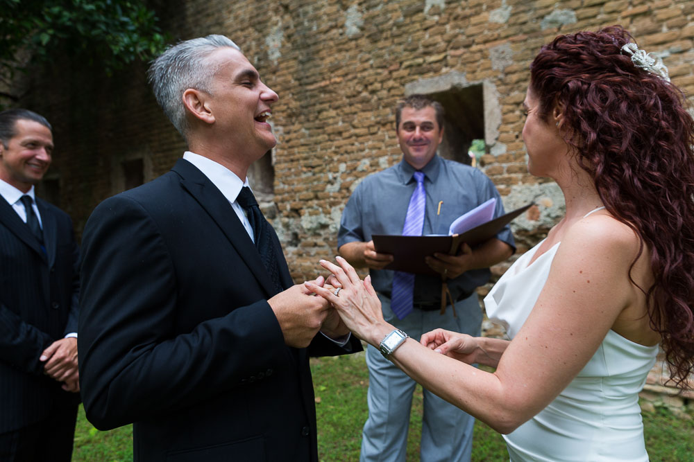 The getting married ritual of exchanging rings.