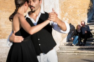 Portrait picture behind a tango photo session.