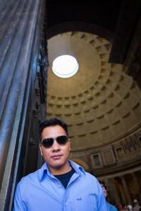 Picture portrait taken at the roman Pantheon