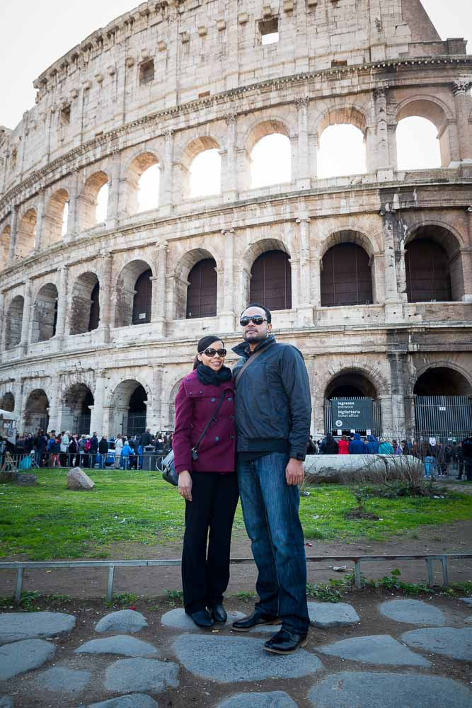 Portrait picture in pose at the Colosseum