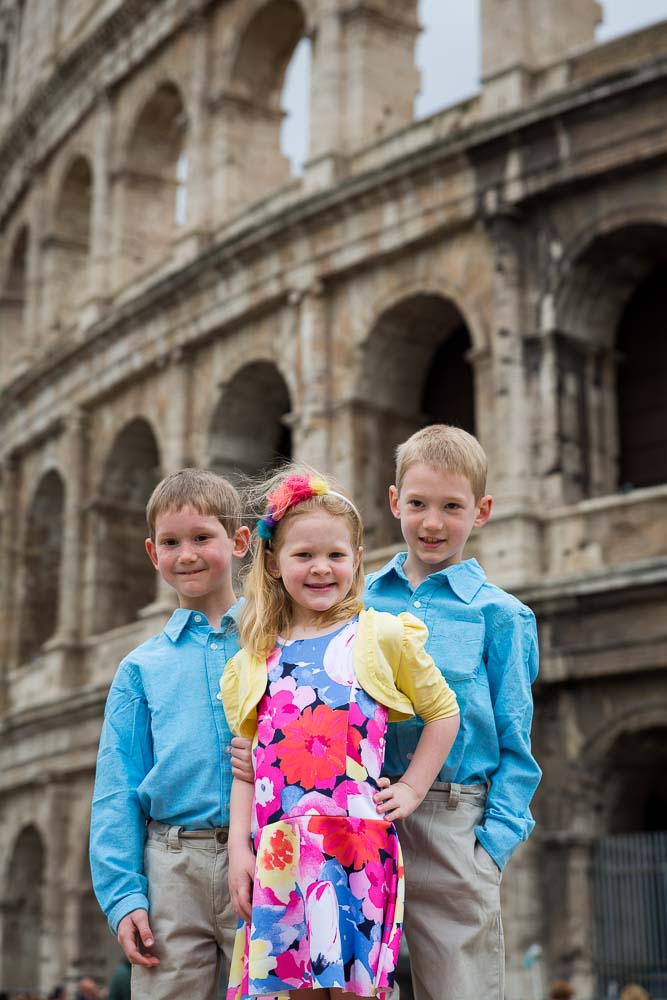 Kid group picture at the Coliseum