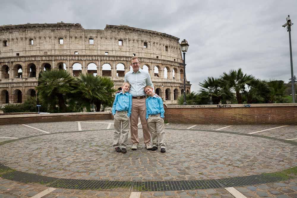 Portrait father sons