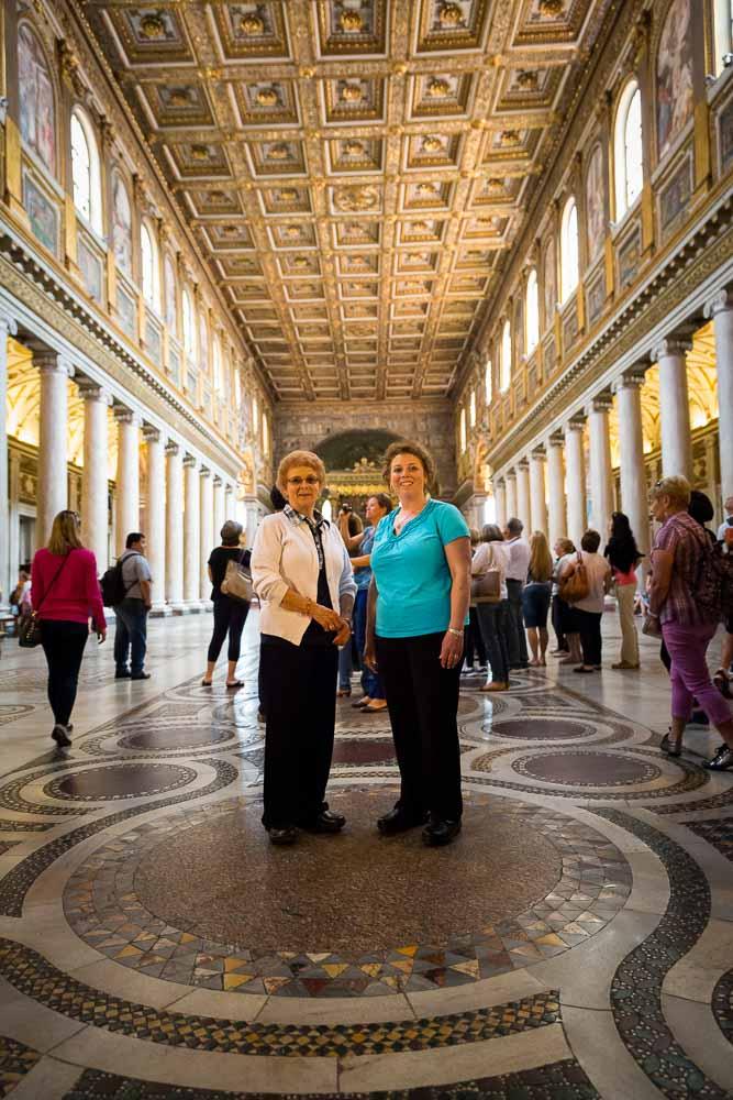 Inside Santa Maria Maggiore Cathedral