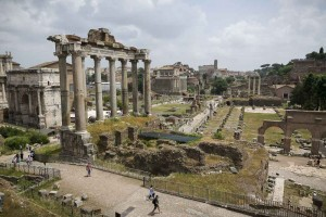 View of the Roman Forum from above