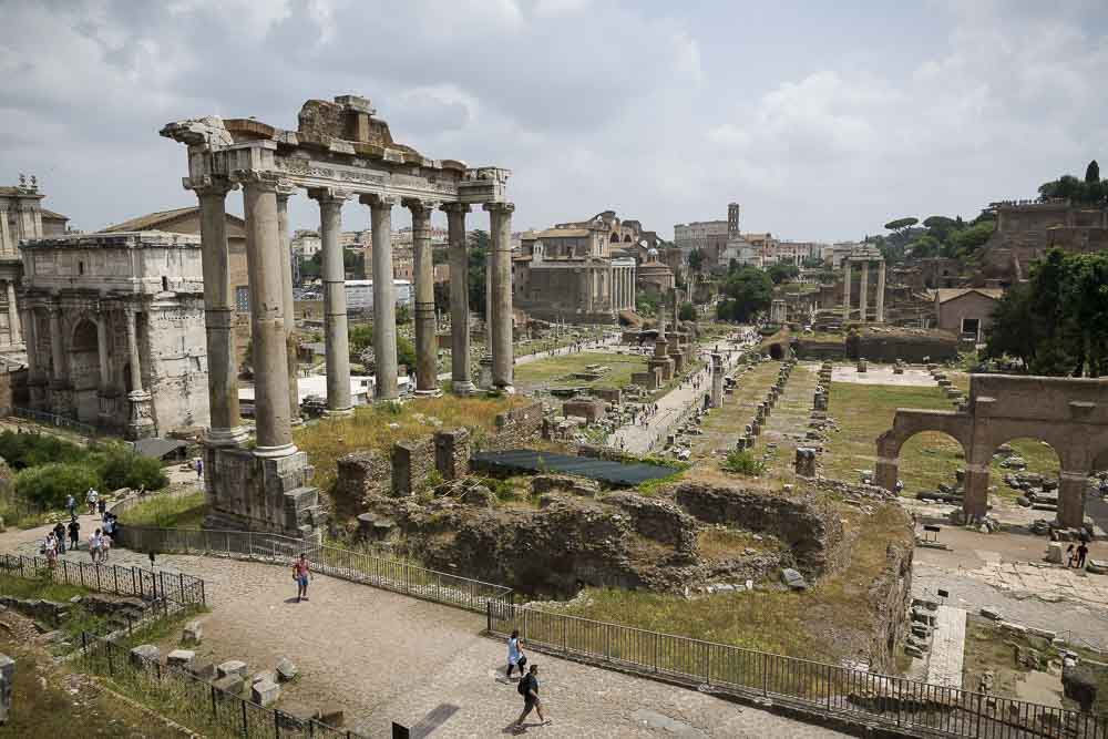 View of the Roman Forum from above. Photo tour excursions.