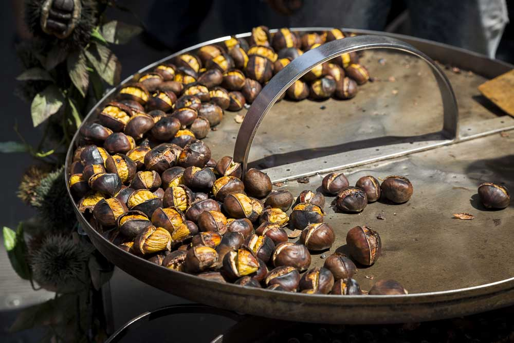 Roasted chestnuts on sale