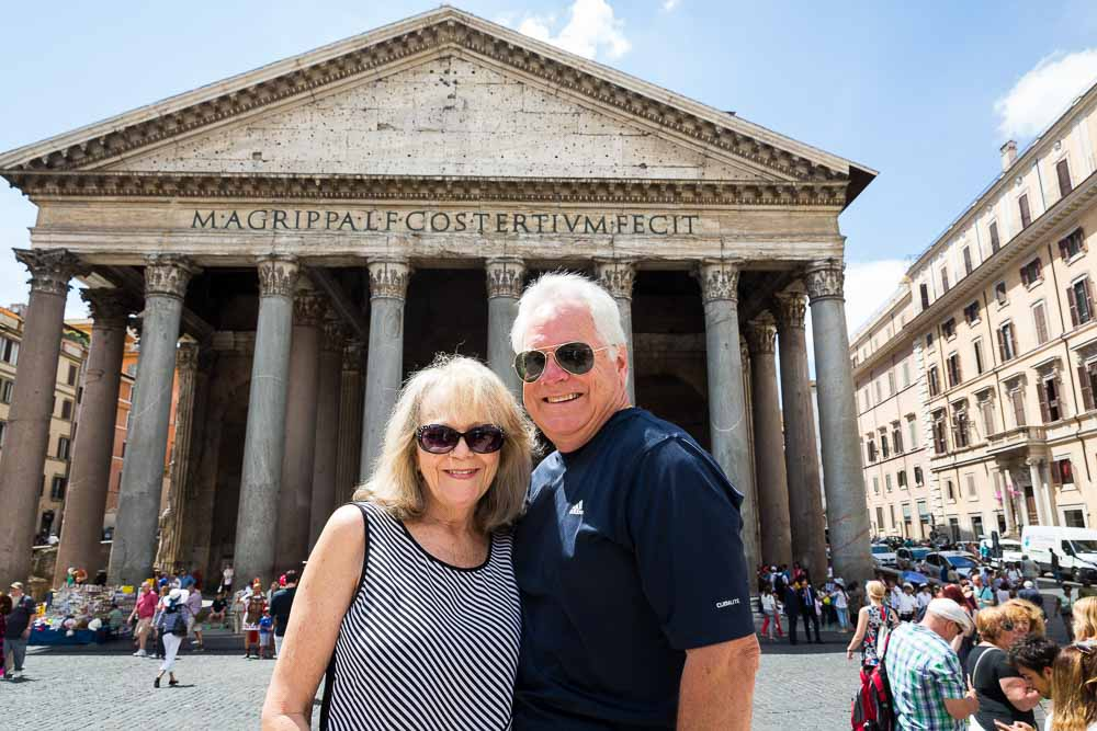Travel and tourism image. Visitor at the Pantheon