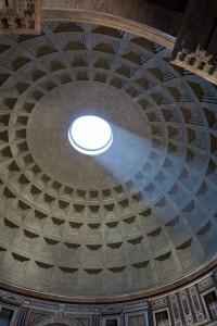 Pantheon hole light shining through