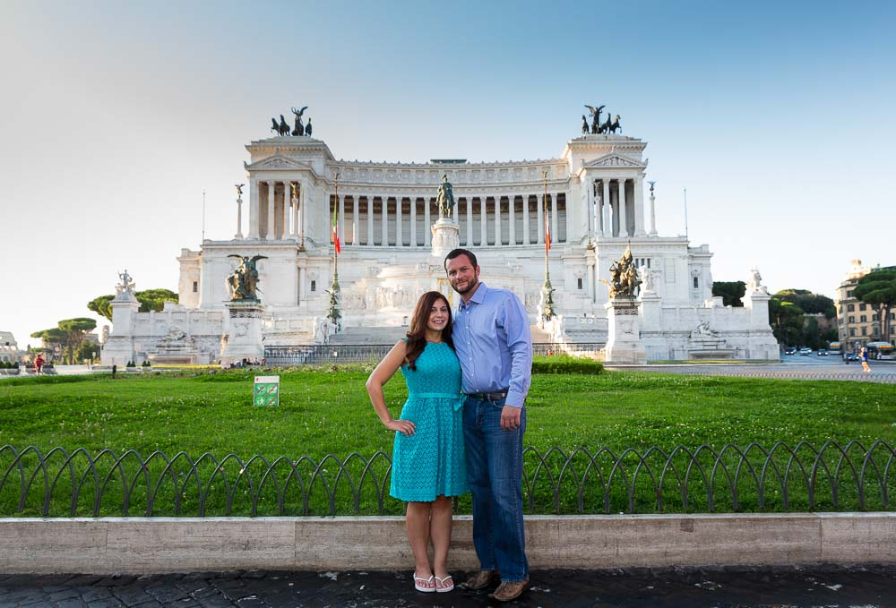 Piazza Venezia picture portrait in front of the Vittoriano monument