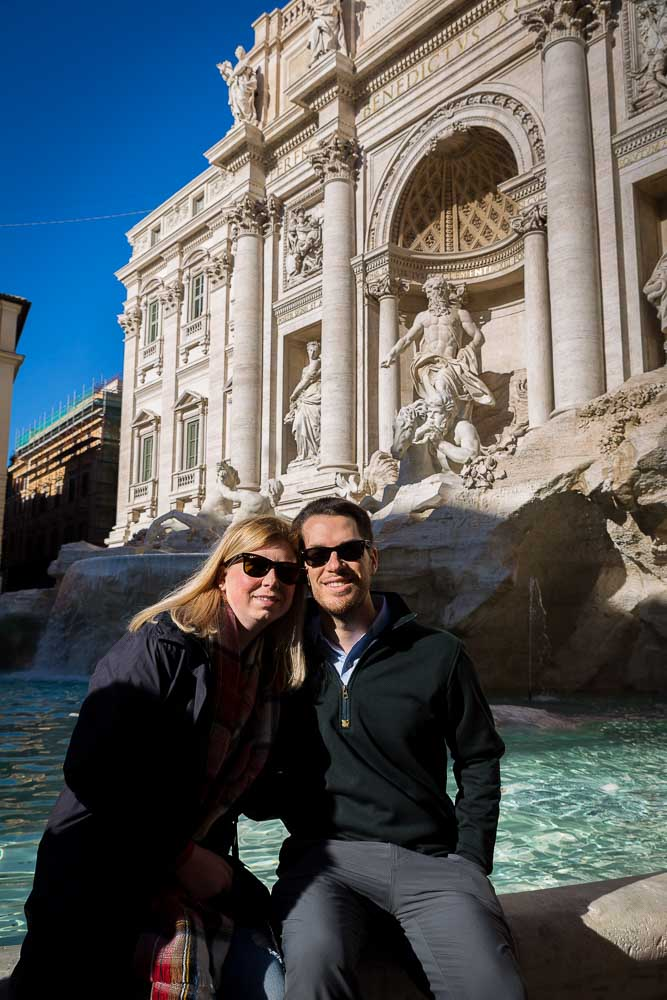 Picture portrait taken at Fontana di Trevi