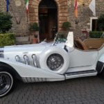 Excalibur Phaeton III white 1976 wedding car antique