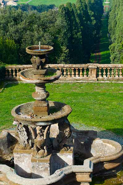 Water fountain in the castelli romani area of Rome