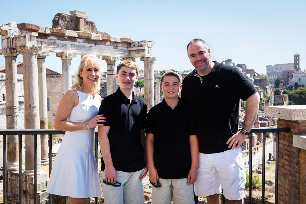 Roman Forum group image in front of the ancient city