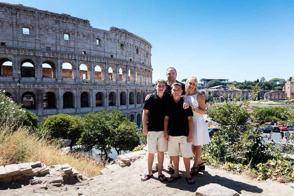 Family photos at the Colosseum in Rome Italy